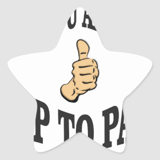 you are up to par star sticker