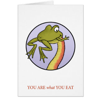 You Are What You Eat Card