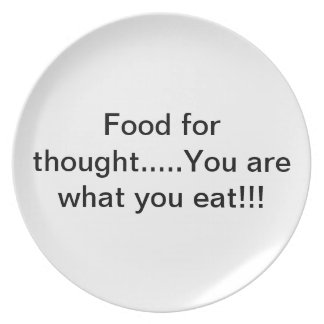 You are what you eat plate