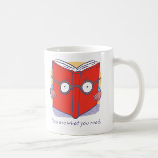 You are what you read. classic white coffee mug