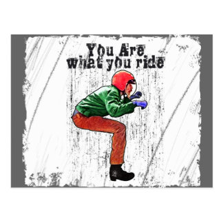 You Are What You Ride - Funny Motorcycle Rider Postcard
