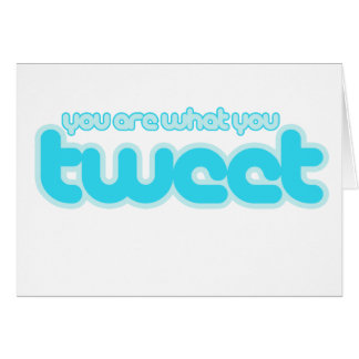 You are what you tweet card