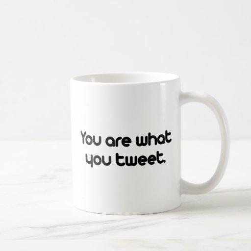 You are what you tweet classic white coffee mug
