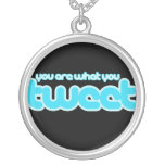 You are what you tweet personalized necklace