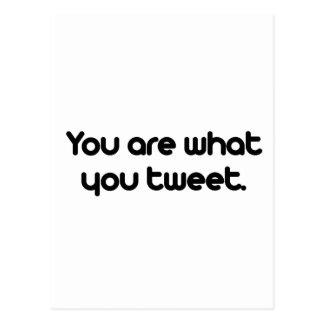 You are what you tweet postcard