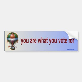 you are what you vote for bumper sticker