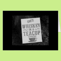 """YOU"" ARE WHISKEY IN A TEA CUP-HAPPY 40TH CARD"