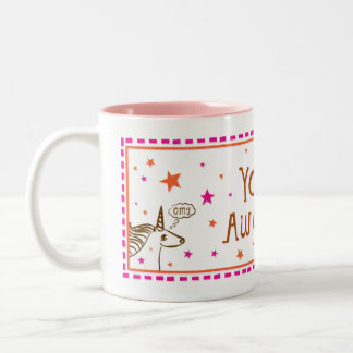 you=awesome mug