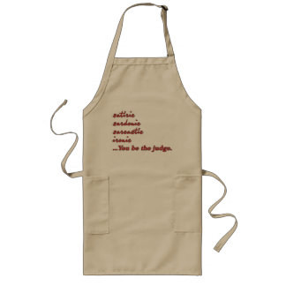 You Be the Judge Long Apron