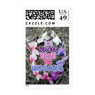 you belong among the wildflowers stamp