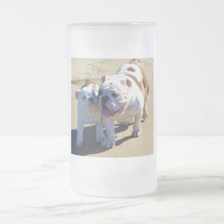 You Belong With Me! Frosted Glass Beer Mug