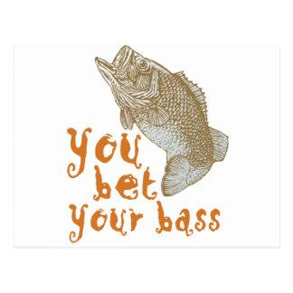 You Bet Your Bass Postcard