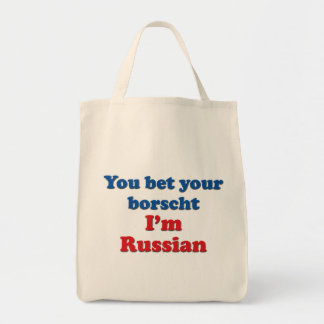 You Bet Your Borscht Grocery Tote Bag