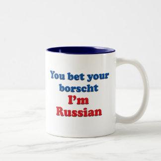 You Bet Your Borscht Two-Tone Coffee Mug