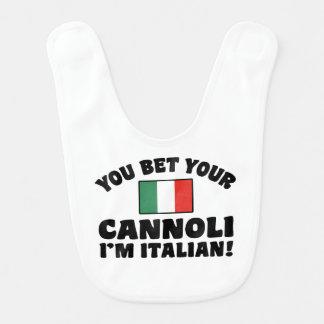 You Bet Your Cannoli I'm Italian Baby Bib