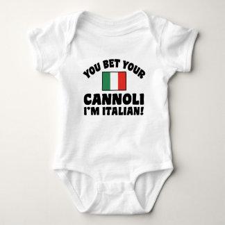 You Bet Your Cannoli I'm Italian Baby Bodysuit