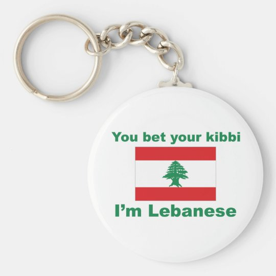 You bet your kibbi I'm Lebanese Keychain