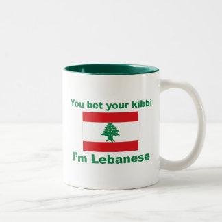 You bet your kibbi I'm Lebanese Two-Tone Coffee Mug