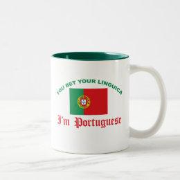 You Bet Your Linguica Two-Tone Coffee Mug