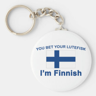 You Bet Your Lutefisk I'm Finnish Keychain