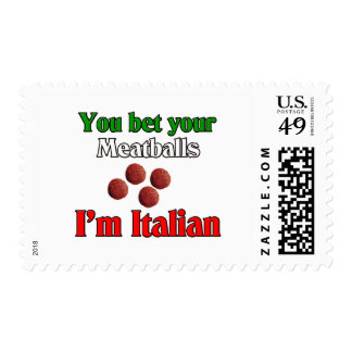 You Bet Your Meatballs I'm Italian Stamps