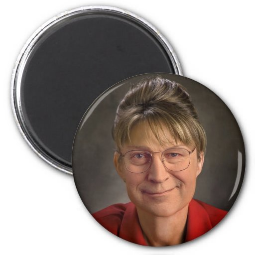 You Betcha! Sarah Palin & Dick Cheney VP, Politics 2 Inch Round Magnet