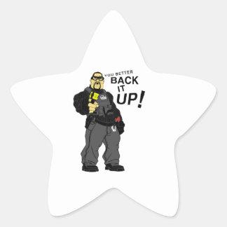 You better back it up. star sticker