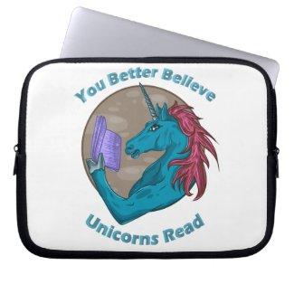 You Better Believe Unicorns Read Book Sleeve