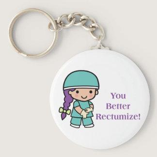 You Better Rectumize Keychain