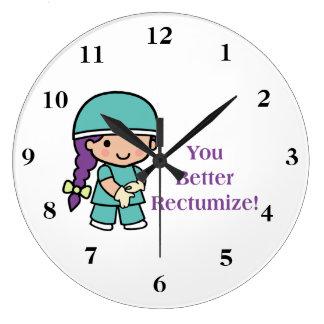 You Better Rectumize Large Clock