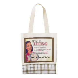You better think! zazzle HEART tote bag