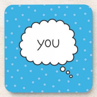 You - Blue Coaster