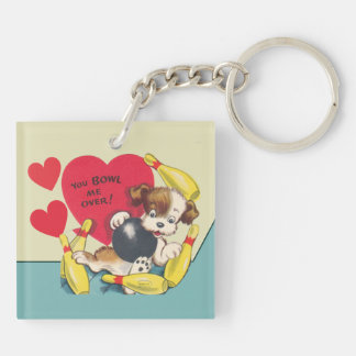 You Bowl be OVER Valentine Double-Sided Square Acrylic Keychain