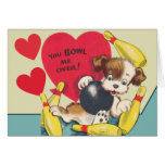 You Bowl be OVER Valentine Stationery Note Card