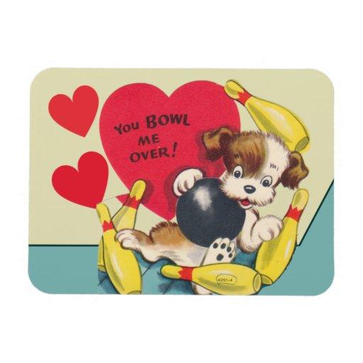 You Bowl be OVER Valentine Vinyl Magnet