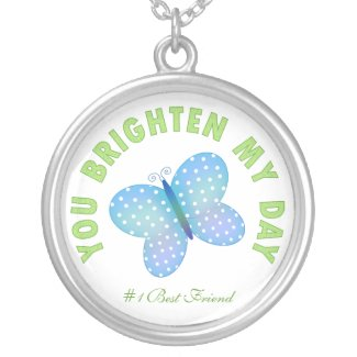 You Brighten My Day: Butterfly Necklace necklace