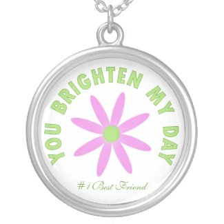 You Brighten My Day: Pink Flower Necklace necklace