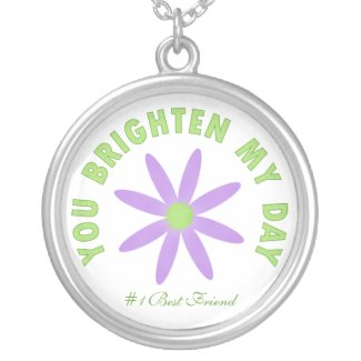 You Brighten My Day: Purple Flower Necklace necklace