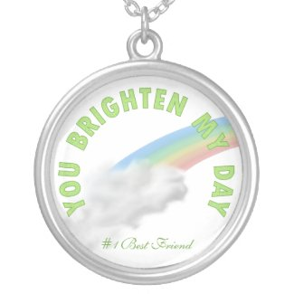 You Brighten My Day: Rainbow Necklace necklace