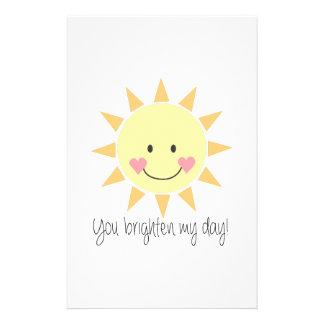 You Brighten My Day! Stationery Design