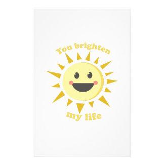 You Brighten My Life Stationery Design