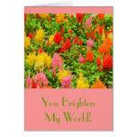 """YOU BRIGHTEN MY WORLD""/ANNIVERSARY CARD/CELOSIA"