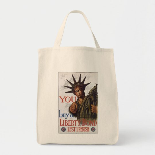 You buy a Liberty Bond Lest I Perish Tote Bag