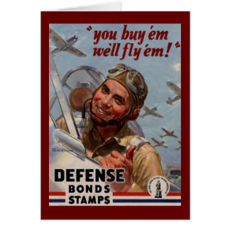 "You Buy 'em and We'll Fly 'em"" Greeting Card"