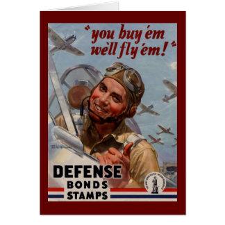 """You Buy 'em and We'll Fly 'em"""" Card"""