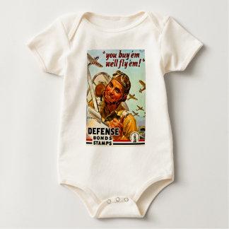 You Buy 'Em, We Fly 'Em Vintage World War 2 Bond Baby Bodysuit