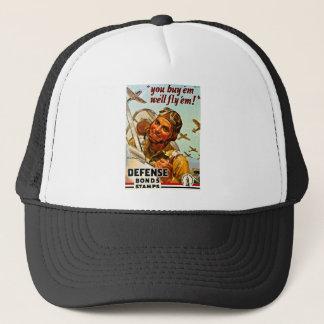 You Buy 'Em, We Fly 'Em Vintage World War 2 Bond Trucker Hat