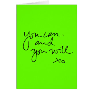 YOU CAN AND YOU WILL MOTIVATIONAL ENCOURAGING SAYI CARD
