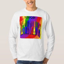 You Can Be the Change Long-Sleeve Rainbow T-Shirt