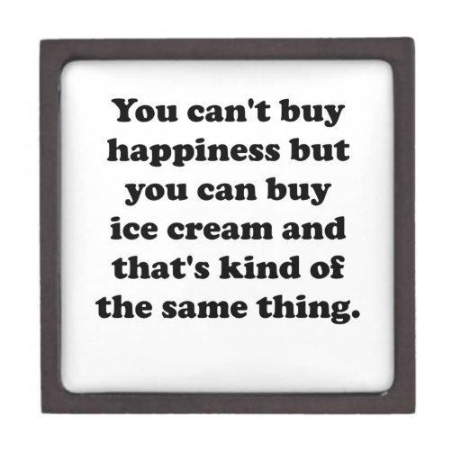 You Can Buy Ice Cream Premium Jewelry Box